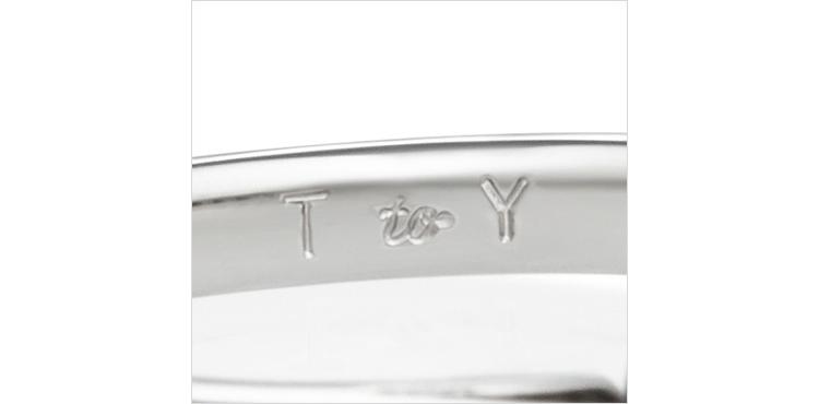 指輪の内側の刻印
