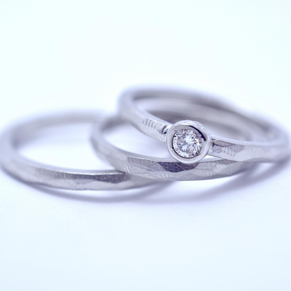 結婚指輪・婚約指輪 3本セット