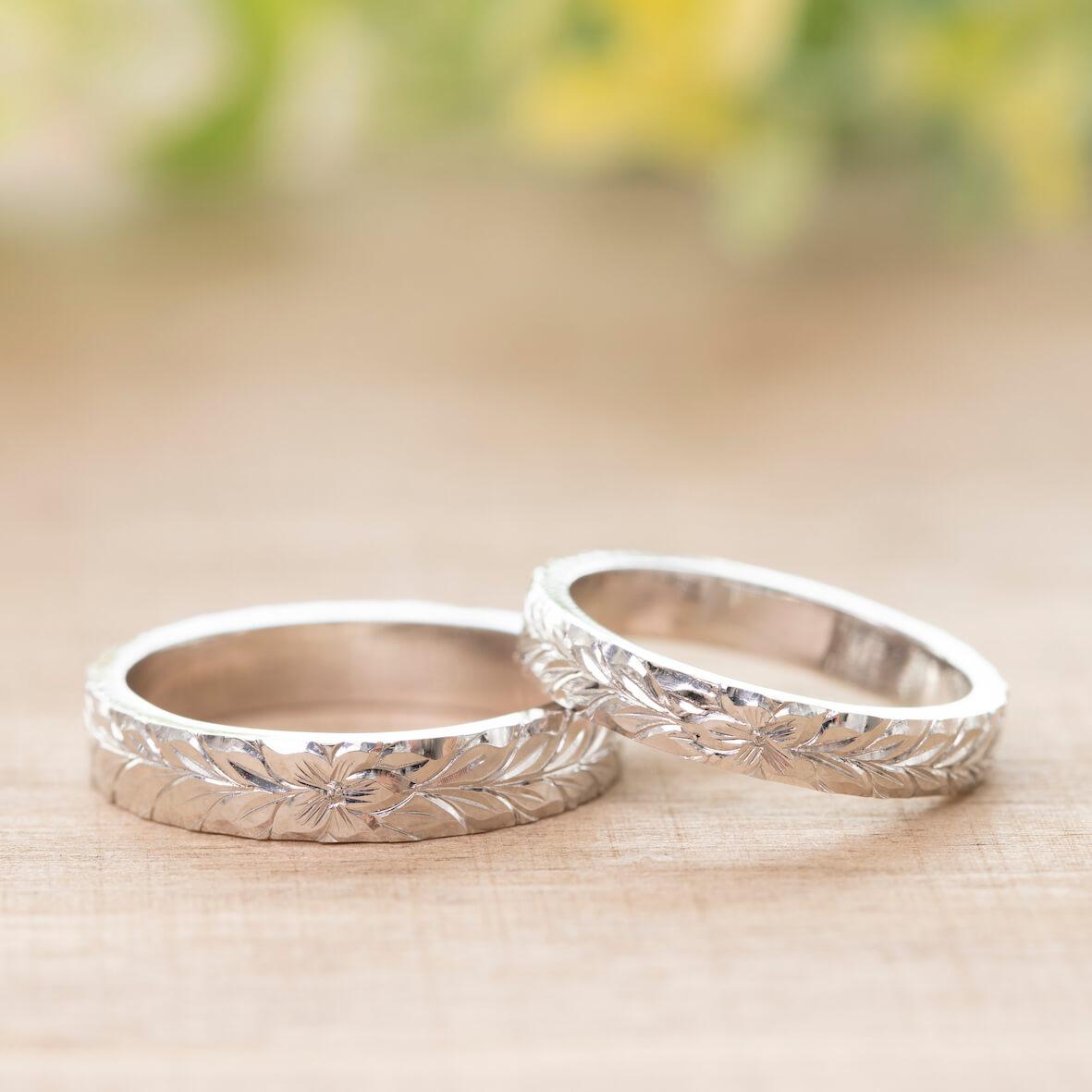 ハワイアンジュエリー ペアリング 結婚指輪 マイレ