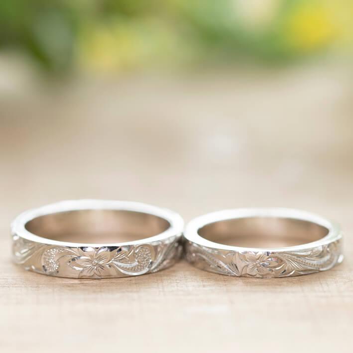ハワイアン・オールドイングリッシュの結婚指輪
