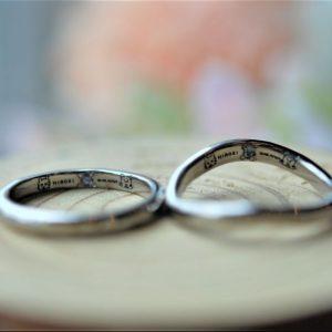 手作り結婚指輪・手書きレーザー刻印