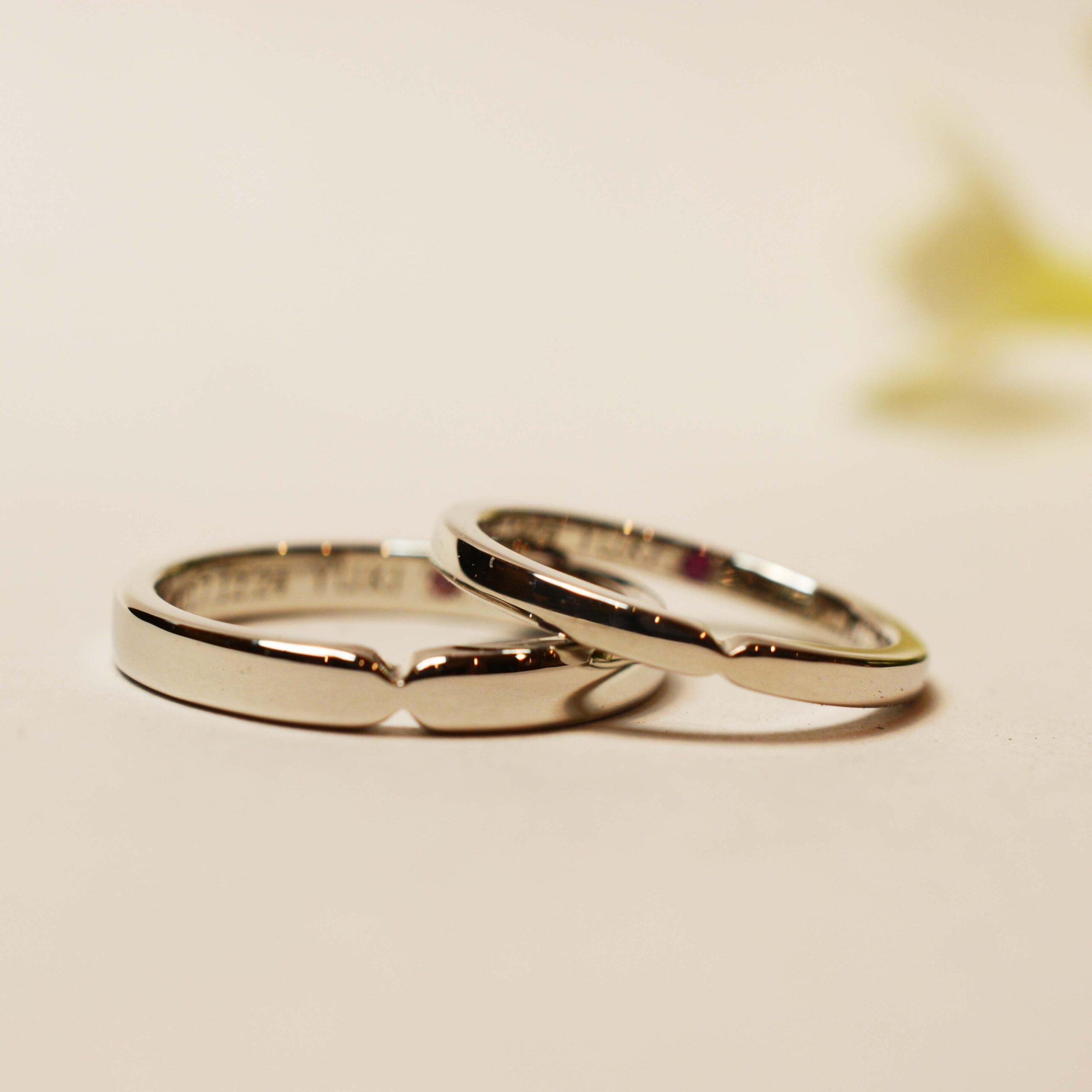 【手作り結婚指輪プレミアムコース】 H様カップル