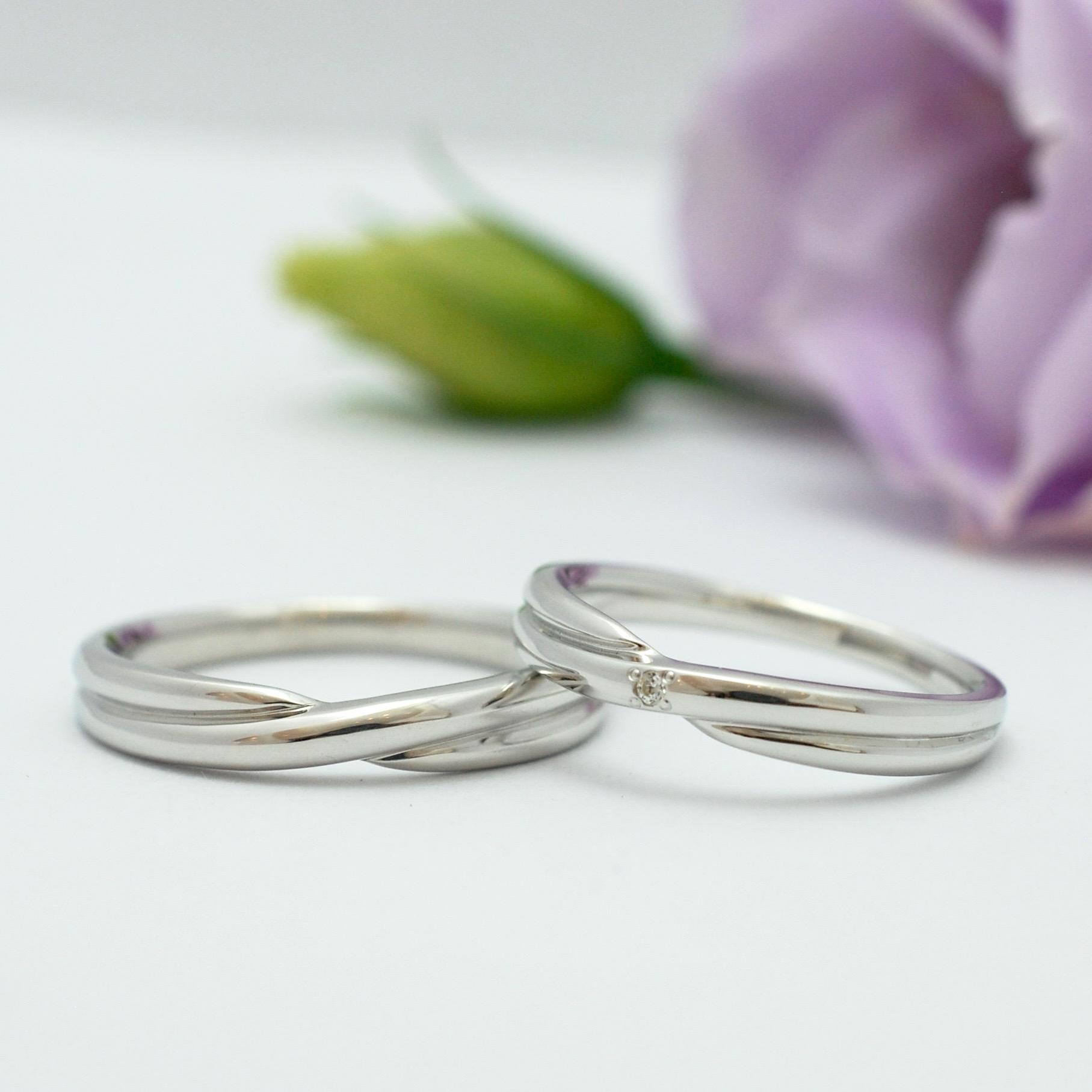 【手作り結婚指輪】清水様カップル