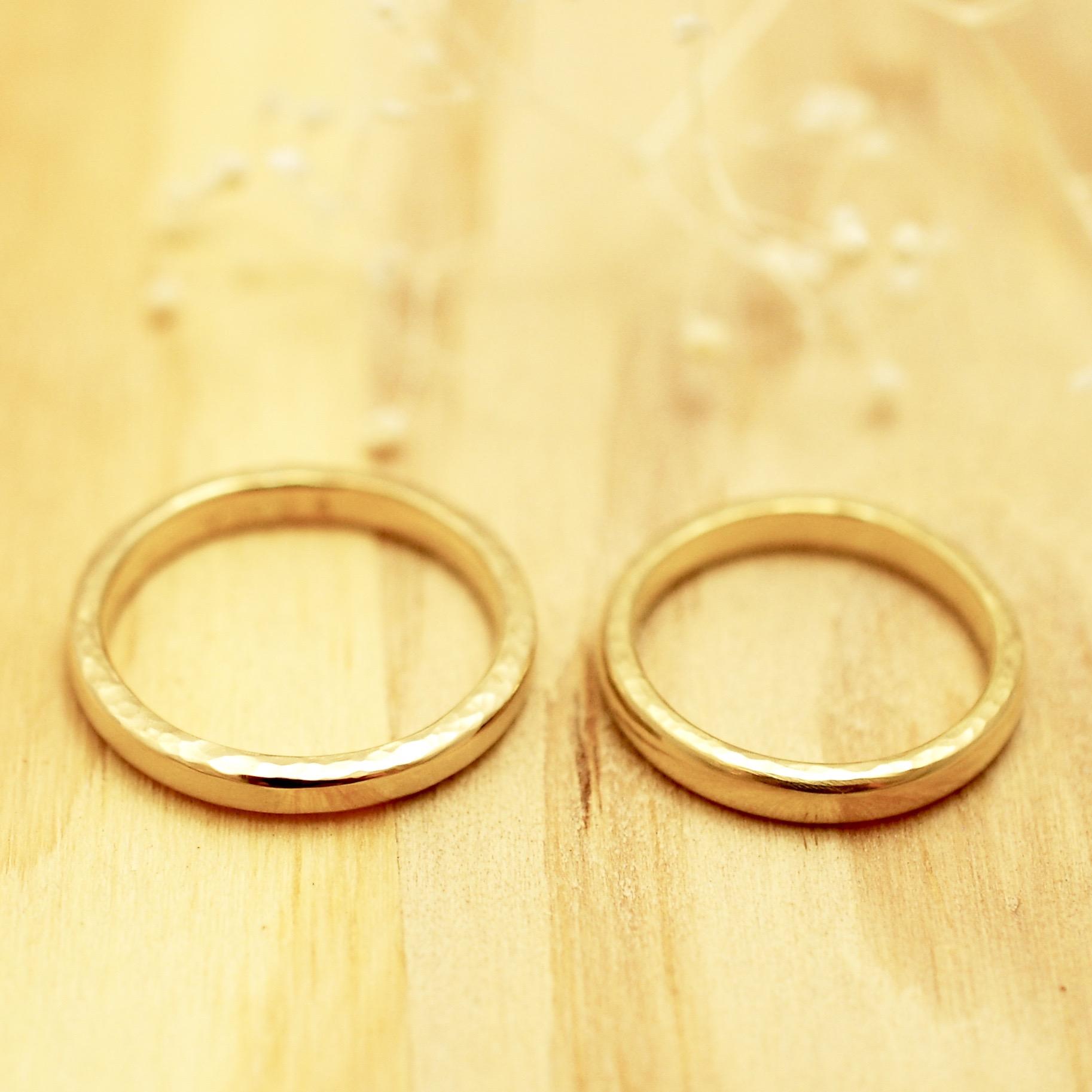 【手作り結婚指輪】A様カップル