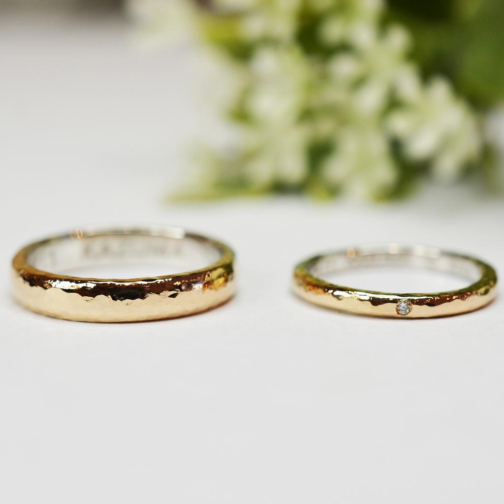 【手作り結婚指輪】 日帰りコース Y様、M様