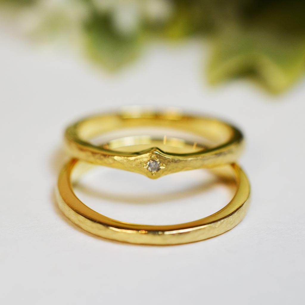 【手作り結婚指輪】田中様、清水様