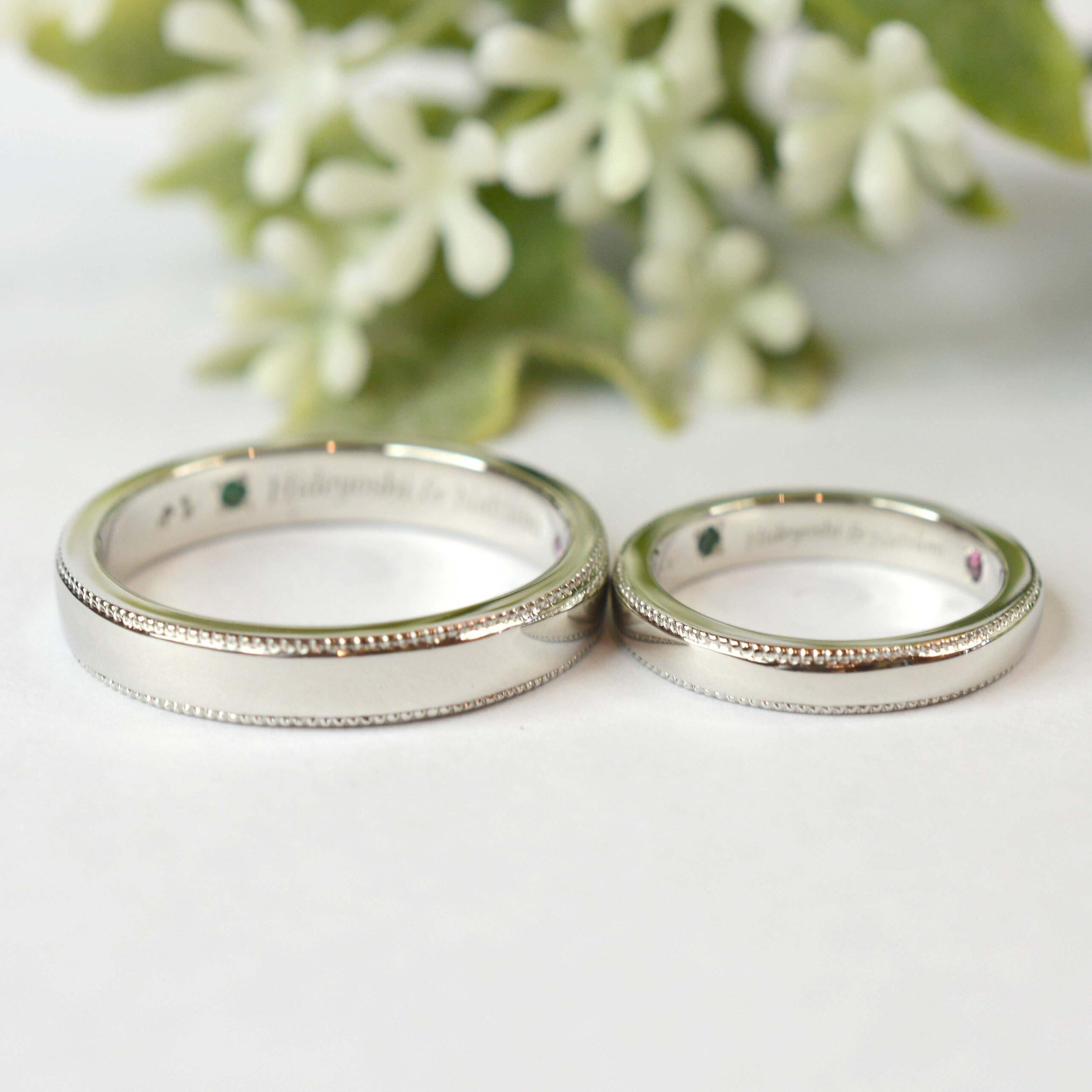 【手作り結婚指輪プレミアムコース)】 工藤様、鏡田様