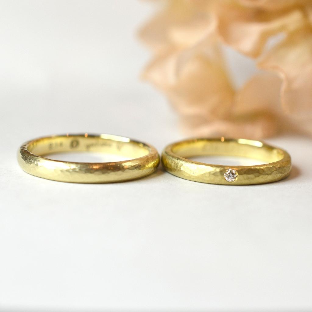 【手作り結婚指輪】日帰りコース 釜石様、福田様