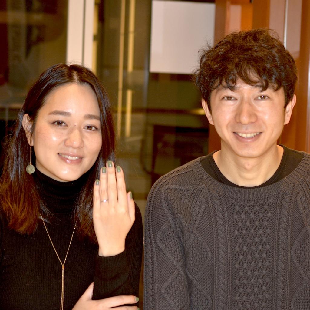 彼女が育った横浜元町で指輪を自作したかった。