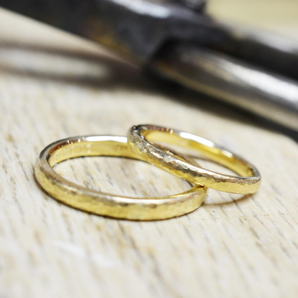 【日帰り手作り結婚指輪】武山様カップル