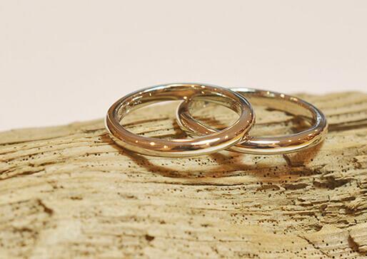 彫金コース手作りした結婚指輪の写真