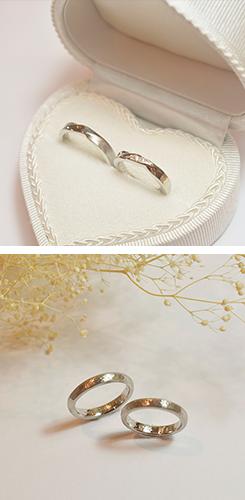 手作りした結婚指輪の写真1
