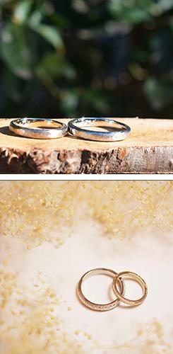 手作りした結婚指輪の写真2