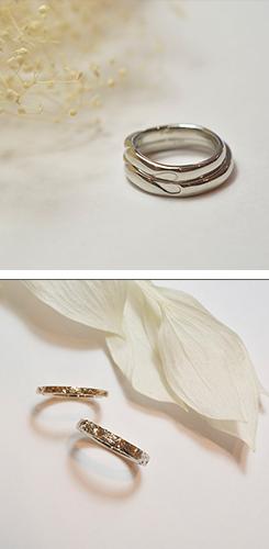 手作りした結婚指輪の写真3