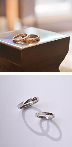 手作りした結婚指輪の写真4