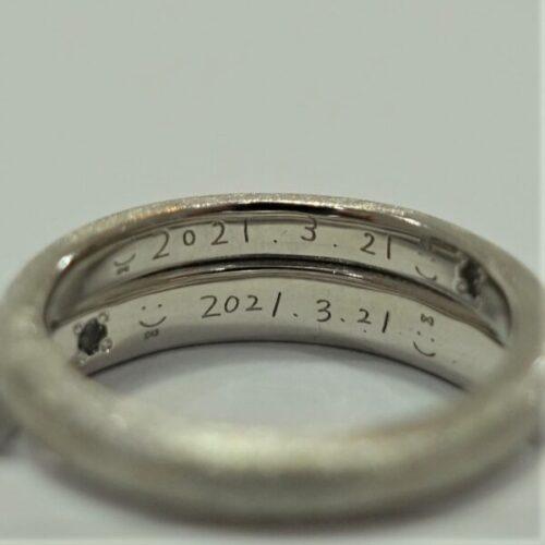 お客様の指輪制作時例2枚目