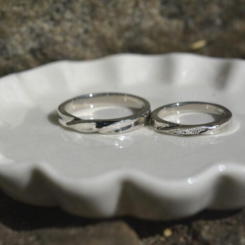 お客様の指輪制作実績1枚⽬