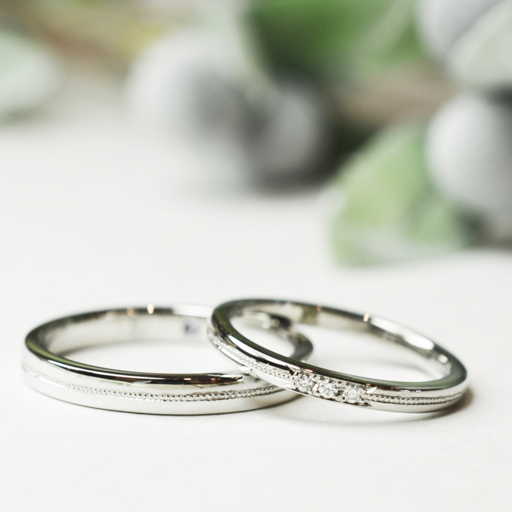 歴史を感じさせるデザイン@手作り結婚指輪 工房スミス札幌店