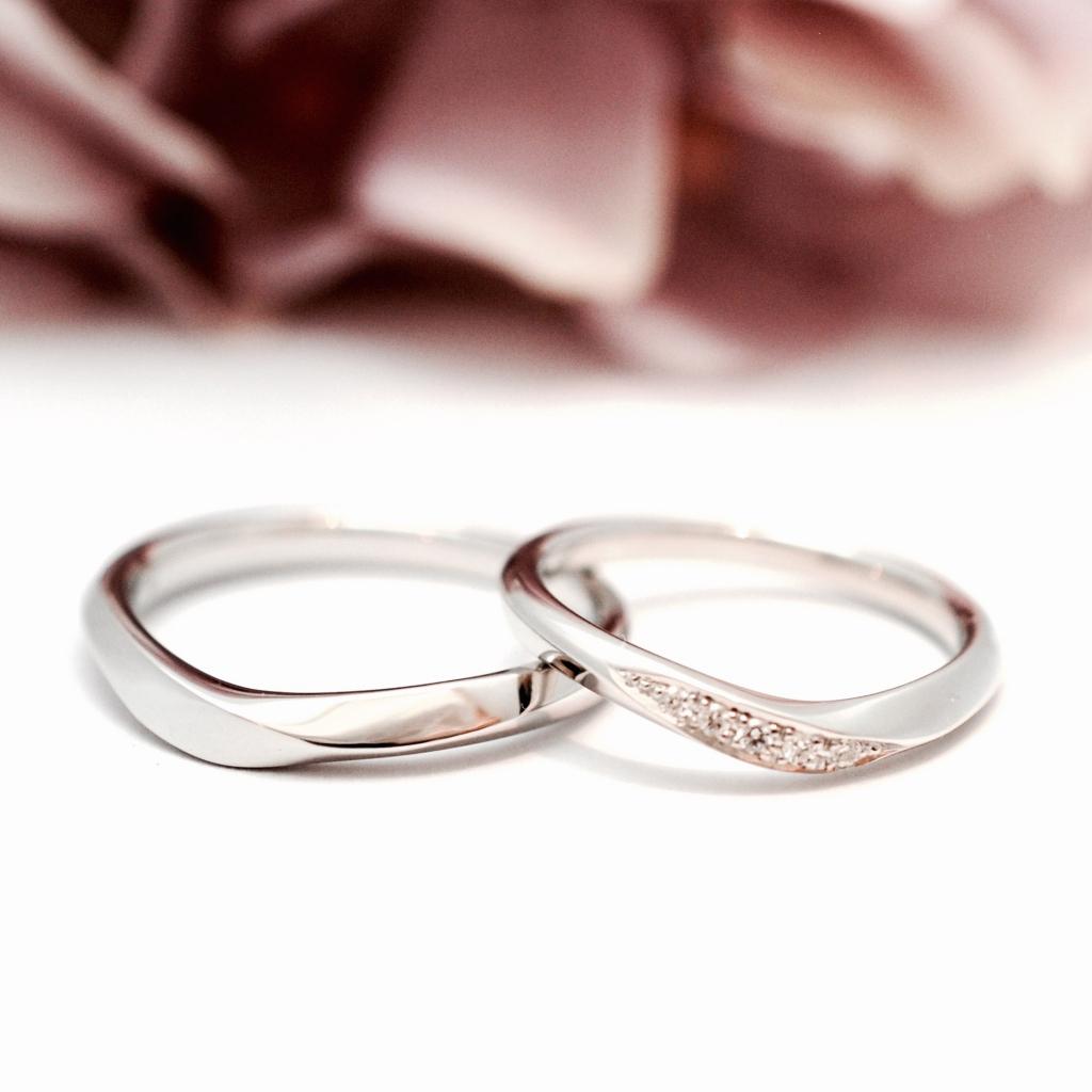 指元を美しくみせるデザイン@手作り結婚指輪 工房スミス札幌店