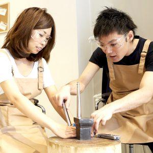 人混みを避けた、二人だけのプライベート空間@手作り結婚指輪 工房スミス札幌店