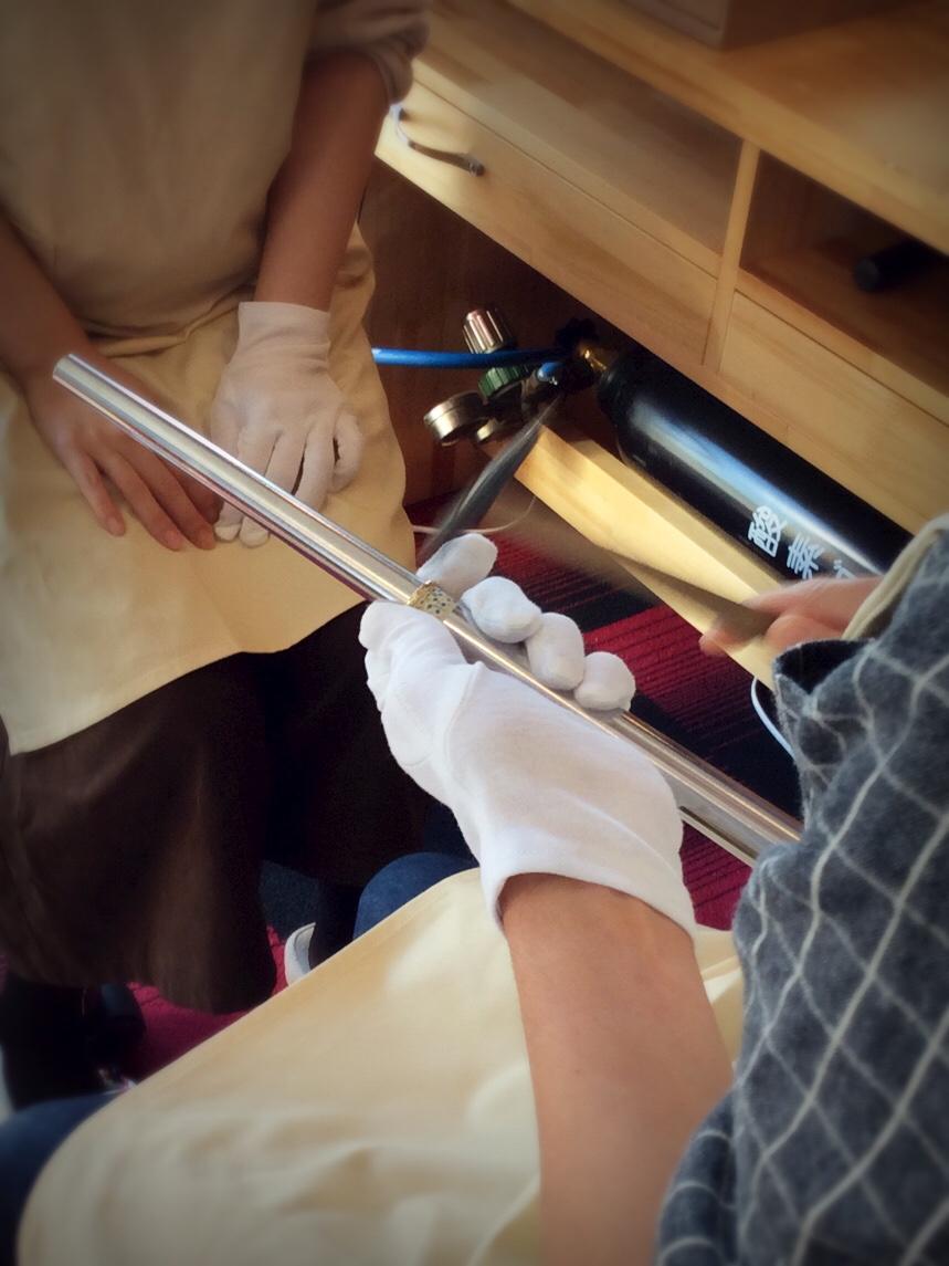 手作り結婚指輪制作中