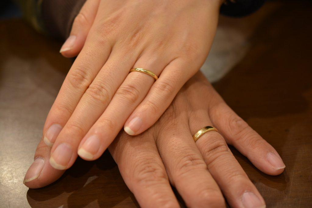 手作り結婚指輪 お客様の着用写真