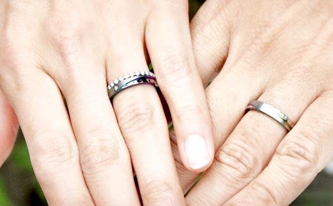 結婚指輪 重ね着け