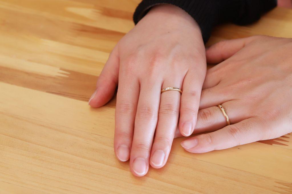 手作り結婚指輪 新婚