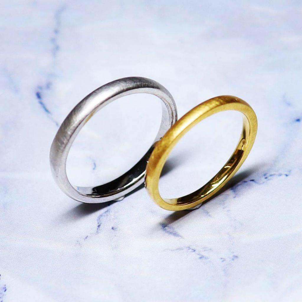 💍艶々⇔艶無どちらが好み?@手作り結婚指輪 工房スミス札幌店