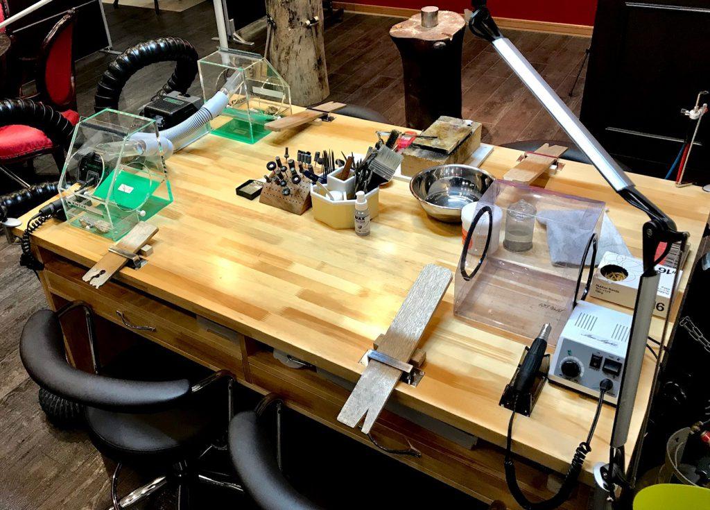 ⚒作業台(彫金机)