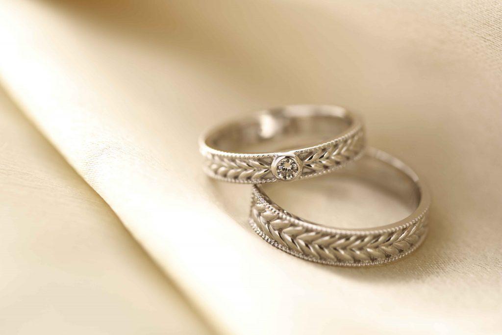 大人っぽいテイストの結婚指輪