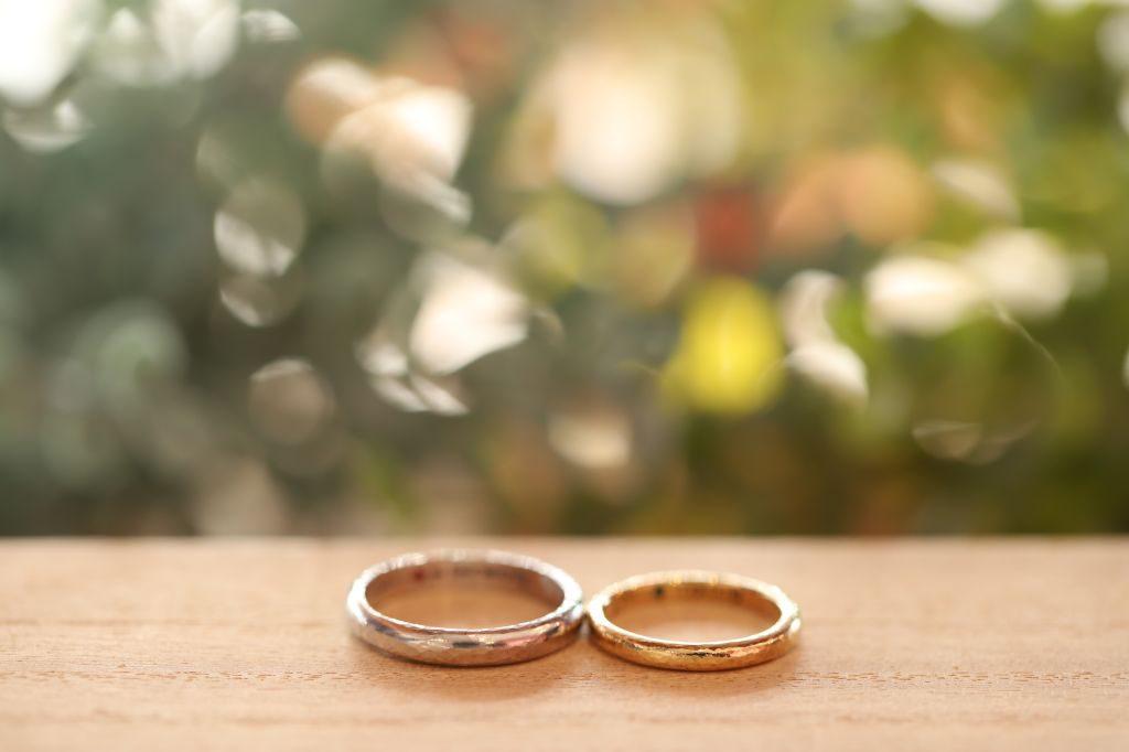 (*^^*)お互いの指輪を制作されました💕