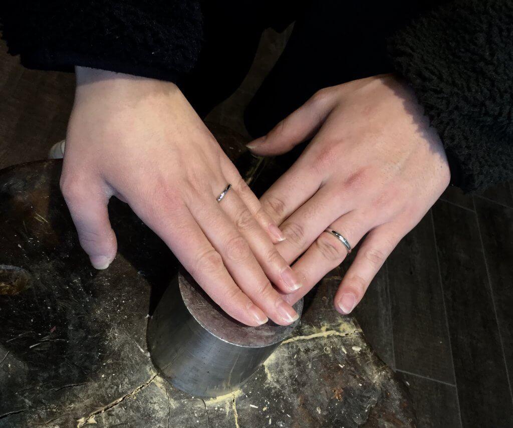 👫指輪の傷は2人歴史
