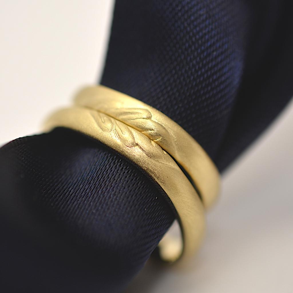 お2人のこだわりの形@手作り結婚指輪 工房スミス札幌店