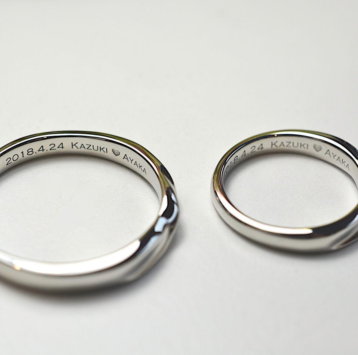内側には何を刻む?@手作り結婚指輪 工房スミス札幌店