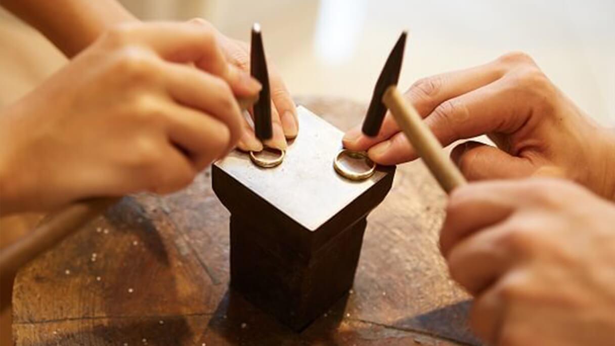 不器用さんでも安心! 私たちがサポート致します@手作り結婚指輪 工房スミス札幌店