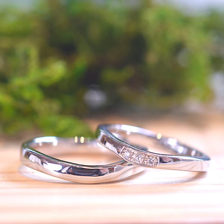 手作り結婚指輪 お客様の作品例