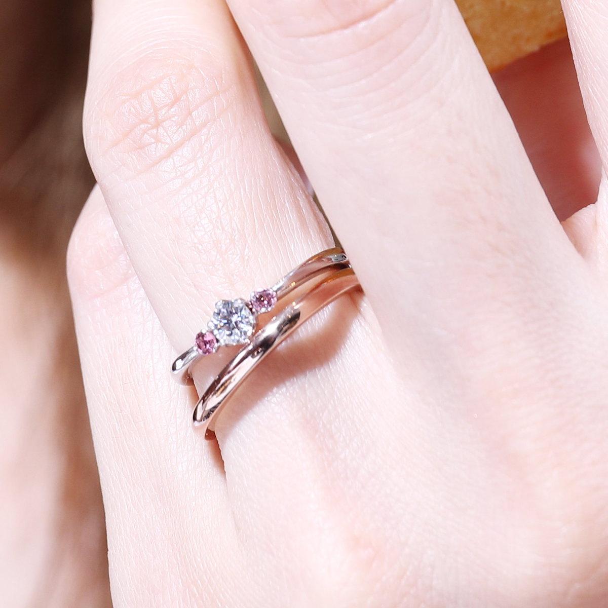 人気です、ピンクゴールドの結婚指輪