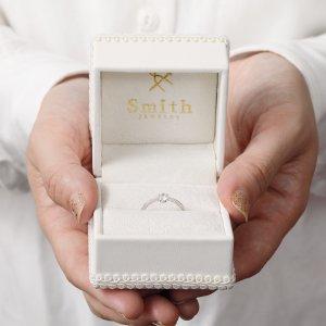 ジュエリーボックスにお入れしてお渡しいたします@手作り結婚指輪 工房スミス札幌店