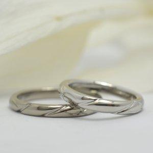 シンプルながらも少しの個性を@手作り結婚指輪 工房スミス札幌店
