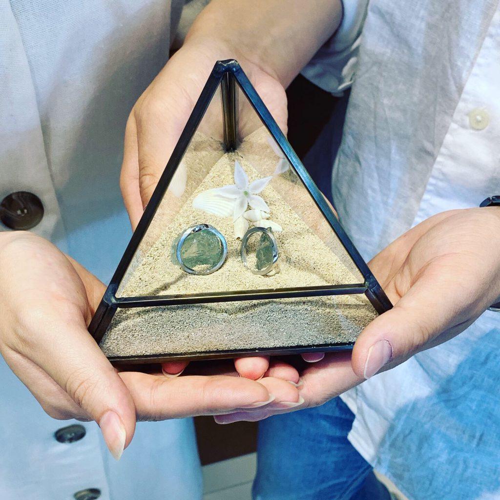 手作りウエディングアイテムと結婚指輪