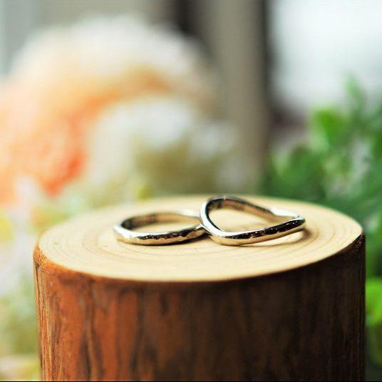 手作り結婚指輪・彫金工法・ウェーブリング
