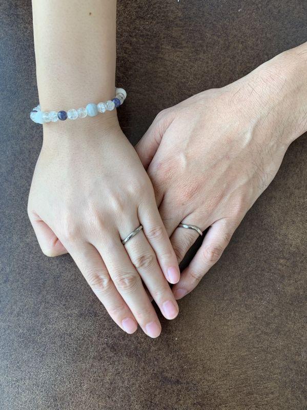 手作り結婚指輪・彫金工法・ご納品