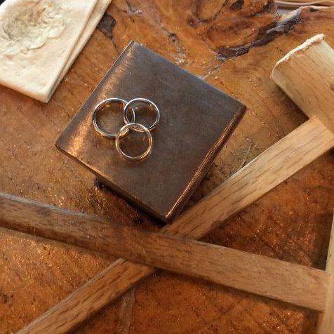 手作り結婚指輪・彫金工法・記念リング
