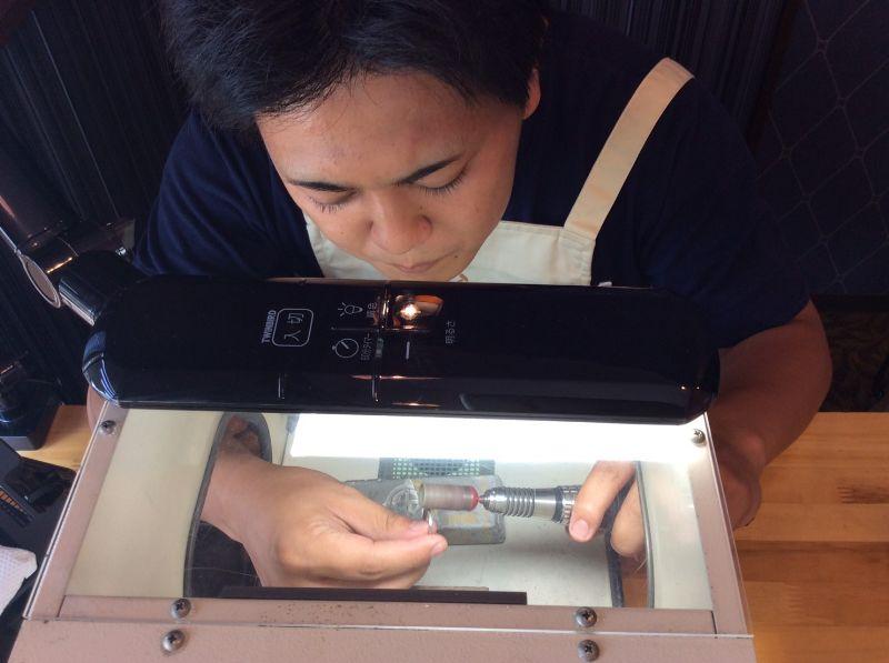 指輪磨き・彫金工法・工房スミス