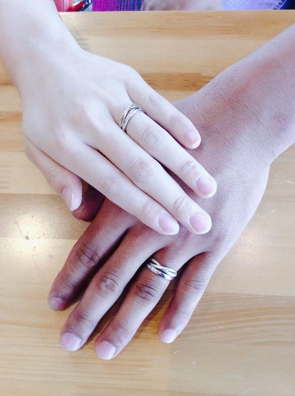 結婚指輪重ね付け・工房スミス
