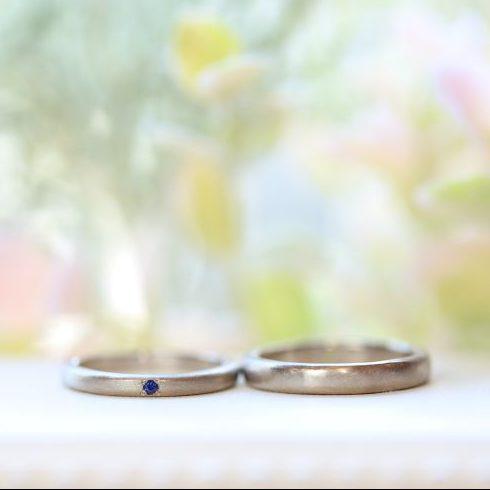 ブルーサファイア・結婚指輪・工房スミス