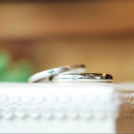 後光留・結婚指輪・誕生石・工房スミス