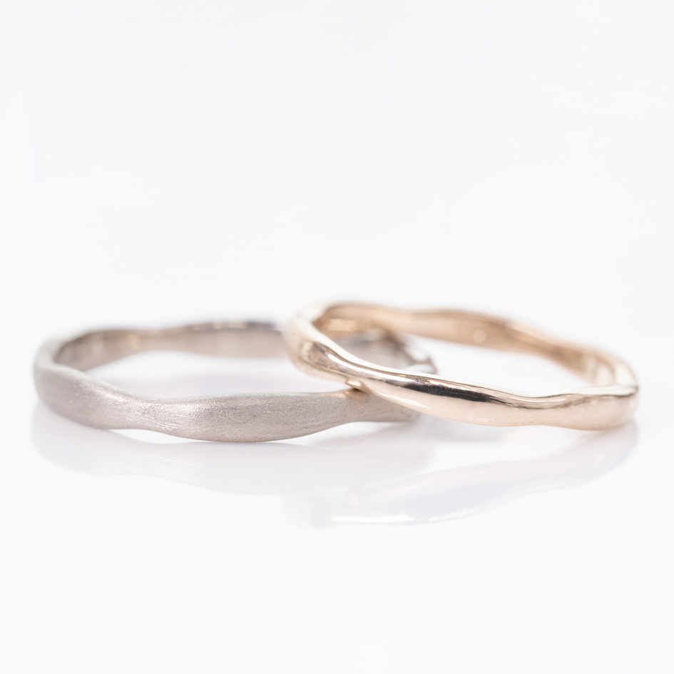 結婚指輪 デザイン ワックス工法 安い