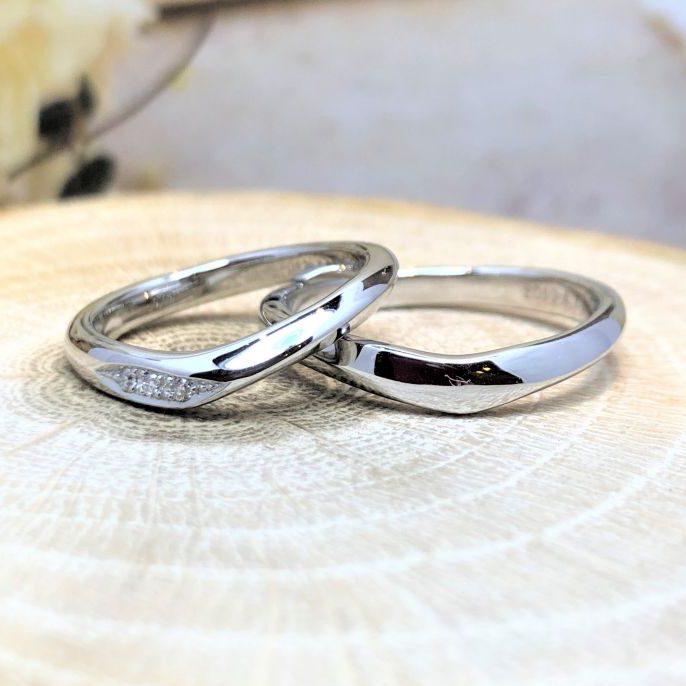 手作り結婚指輪・Pt900・工房スミス